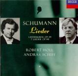 SCHUMANN - Holl - Liederkreis (Eichendorff), cycle de douze mélodies pou