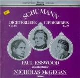 SCHUMANN - Esswood - Liederkreis (Eichendorff), cycle de douze mélodies