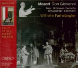 MOZART - Furtwängler - Don Giovanni (Don Juan), dramma giocoso en deux a Salzbourg, 1953