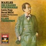 MAHLER - Tennstedt - Des Knaben Wunderhorn (Le Cor enchanté de l'enfant)