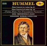 HUMMEL - Protopopescu - Concerto pour piano n°2 en la mineur op.85