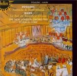 POULENC - Corp - Sinfonietta, pour orchestre FP.141