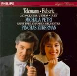 TELEMANN - Petri - Concerto pour flûte à bec et viole de gambe, cordes e