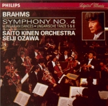 BRAHMS - Ozawa - Symphonie n°4 pour orchestre en mi mineur op.98