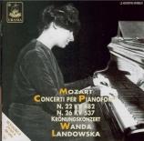 MOZART - Landowska - Concerto pour piano et orchestre n°22 en mi bémol m