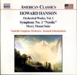 HANSON - Schermerhorn - Symphonie n°1 op.21
