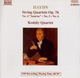 HAYDN - Kodaly Quartet - Quatuor à cordes n°80 en mi bémol majeur op.76