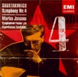 CHOSTAKOVITCH - Jansons - Symphonie n°4 op.43