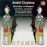 STRAVINSKY - Cluytens - Le rossignol, conte lyrique, pour voix et orches