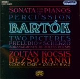 BARTOK - Kocsis - Sonate pour deux pianos et percussions Sz.110 BB.115