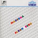 BERG - Maderna - Drei Orchesterstücke op.6