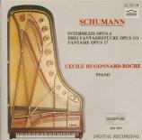 SCHUMANN - Hugonnard-Roche - Sechs Intermezzi, pour piano op.4