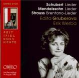 MENDELSSOHN-BARTHOLDY - Gruberova - Lieder (Salzburg, le 14 - 08 - 1980) Salzburg, le 14 - 08 - 1980