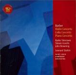 BARBER - Takezawa - Concerto pour violon op.14