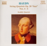 HAYDN - Kodaly Quartet - Quatuor à cordes n°34 en ré majeur op.20 n°4 Ho