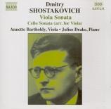 CHOSTAKOVITCH - Bartholdy - Sonate pour alto et piano op.40