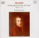 HAYDN - Kodaly Quartet - Quatuor à cordes n°31 en mi bémol majeur op.20