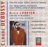 DEBUSSY - Gallois - Sonate en trio pour flûte, alto et harpe en fa majeu