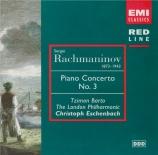 RACHMANINOV - Eschenbach - Concerto pour piano n°3 en ré mineur op.30