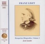 Complete Piano Music Vol.13  Hungarian Rhapsodies Vol.2
