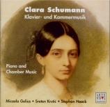 SCHUMANN-WIECK - Gelius - Trois romances pour violon et piano op.22