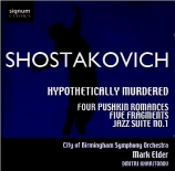 CHOSTAKOVITCH - Elder - Hypothetically Murdered : réduction pour piano o