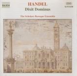 HAENDEL - Scholars Baroqu - Dixit Dominus (Psaume 110), psalm setting po