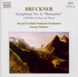 BRUCKNER - Tintner - Symphonie n°4 en mi bémol majeur WAB 104 Version 1878 - 80, édition Haas