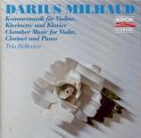 Musique de chambre pour violon, clarinette et piano