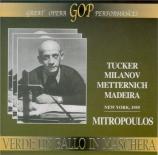 VERDI - Mitropoulos - Un ballo in maschera (Un bal masqué), opéra en tro live MET 22 - 1 - 1955