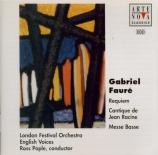 FAURE - Pople - Requiem pour voix, orgue et orchestre en ré mineur op.48