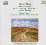 SMETANA - Moyses Quartet - Quatuor à cordes n°1 'De ma vie'