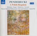 PENDERECKI - Wit - Un requiem polonais