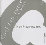 MOZART - Rosbaud - Cosi fan tutte (Ainsi font-elles toutes), opéra bouff Live Aix-En-Provence 1957
