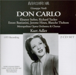 VERDI - Adler - Don Carlo, opéra (version italienne) Live MET New York, 5 - 3 - 1955