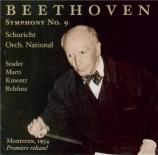BEETHOVEN - Schuricht - Symphonie n°9 op.125 'Ode à la joie'