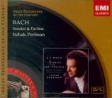 BACH - Perlman - Sonates et partitas pour violon seul BWV 1001-1006