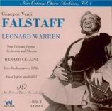 VERDI - Cellini - Falstaff, opéra en trois actes live New Orleans 5 - 5 - 1956