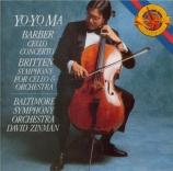 BARBER - Ma - Concerto pour violoncelle op.22