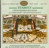 STAMITZ - Hahn - Sinfonia en sol majeur (Edition Mannheim Stamitz) Edition Mannheim Stamitz