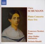 SCHUMANN-WIECK - Nicolosi - Concerto pour piano et orchestre en la mineu