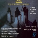 WEBER - Arrignon - Concerto pour basson et orchestre en fa majeur op.75