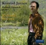 STRAUSS - Jarnot - Acht Gedichte, pour voix et piano op.10