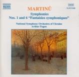 MARTINU - Fagen - Symphonie n°1 H.289