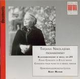 TCHAIKOVSKY - Nikolayeva - Concerto pour piano n°1 en si bémol mineur op