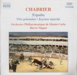CHABRIER - Niquet - Espana, pour deux pianos