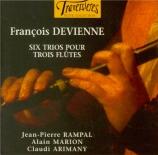 DEVIENNE - Rampal - Six trios pour trois flûtes op.19