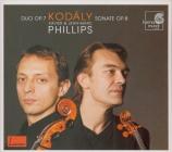 KODALY - Phillips - Sonate pour violoncelle seul op.8