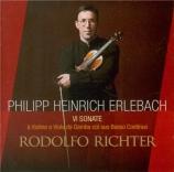 ERLEBACH - Richter - Sonates pour violon et basse continue