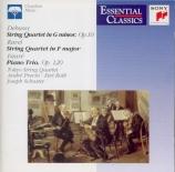 DEBUSSY - Roth Trio (The) - Quatuor à cordes op.10 L.85